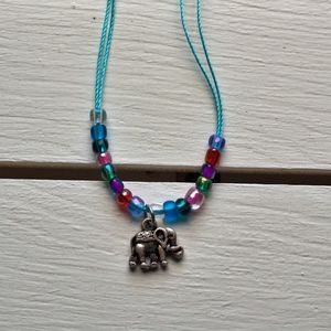 Jewelry - Boho Style Beaded Elephant charm Anklet